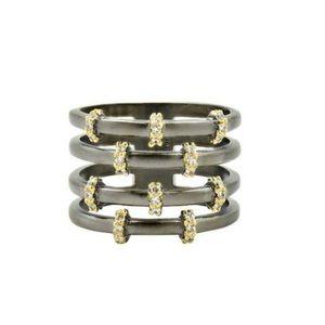 Freida Rothman Imperial Caged Ring,NWT
